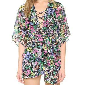 BNWT Yumi Kim Driftaway Lace Up Floral Romper